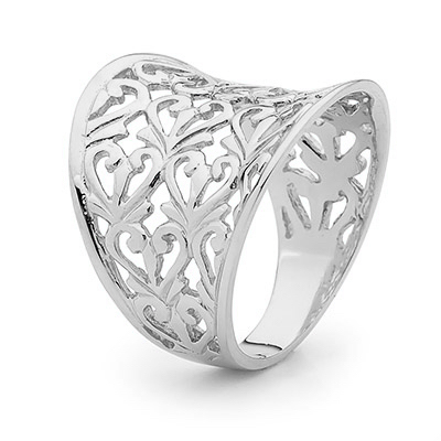 Sterling Silver Fashion Ring with Flair - 2501