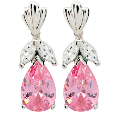 Oprah style Cubic Zirconia earrings