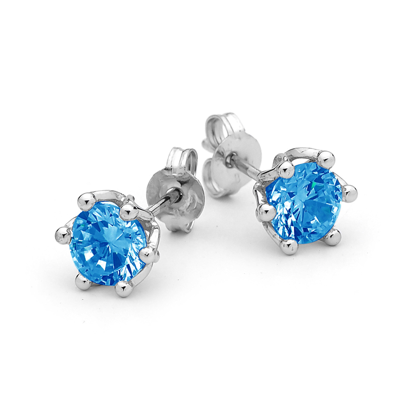 Aqua Blue Spinel Earrings