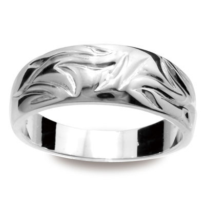 "Sterling Silver Ring ""Bark texture"""