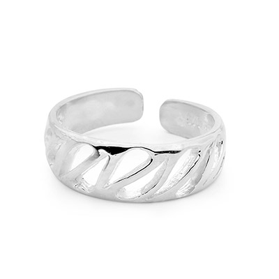 Artistic Design Silver Toe Ring