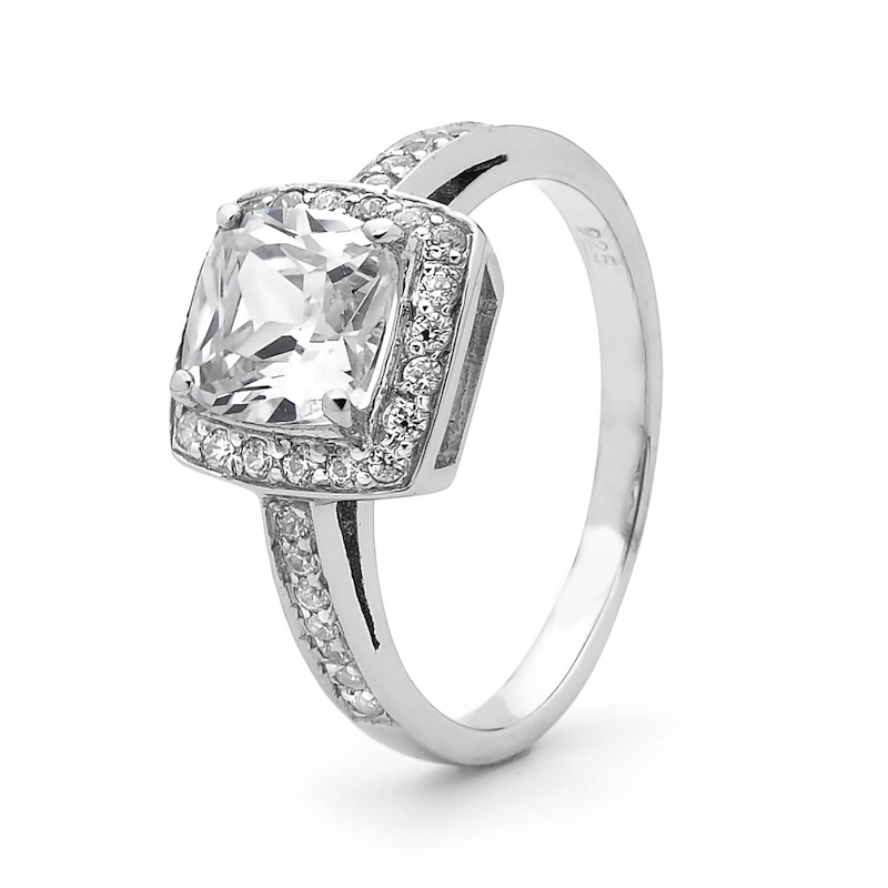 Cubic Zirconia Dress ring - Silver - 2502