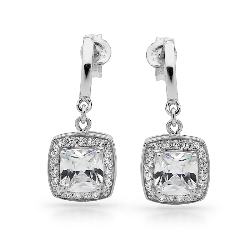 Cubic Zirconia Dress earrings - Silver