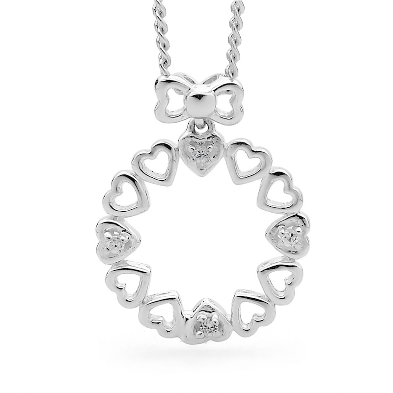 Silver Love Wreath Set With Zirconia