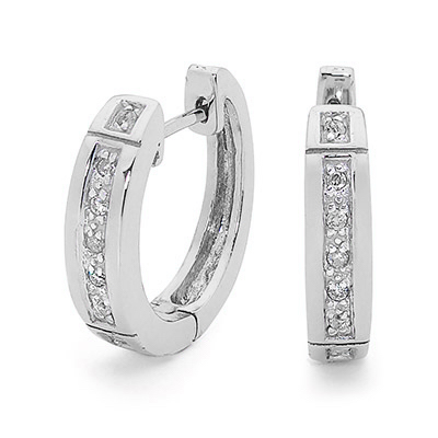 Elegant Silver Huggie Earrings