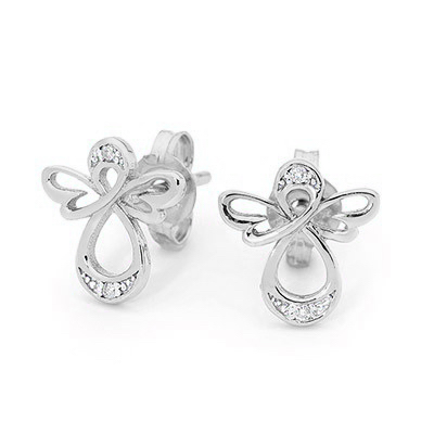 Sterling Silver Angel Earrings