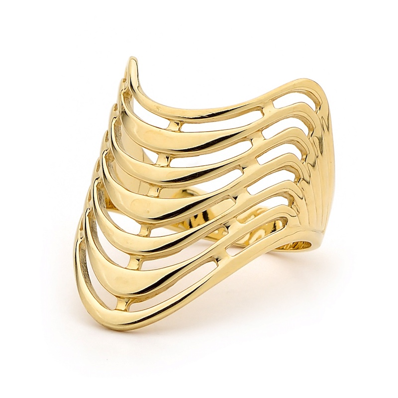 "Solid Gold Ring ""Seven Wishes"""