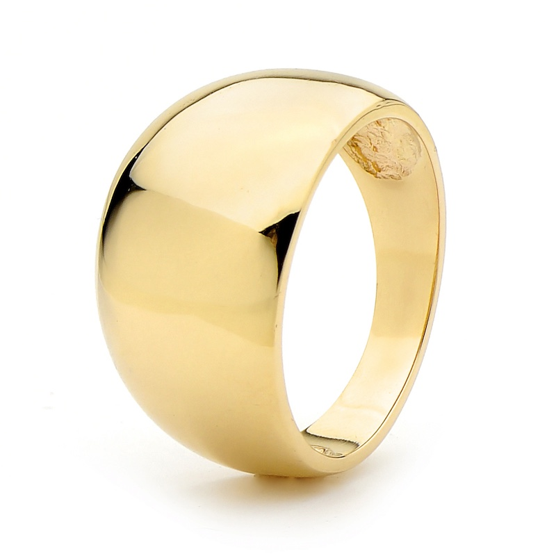 Gold Ring - Wide Dome