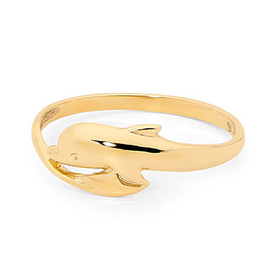 Single Dolphin Gold Ring