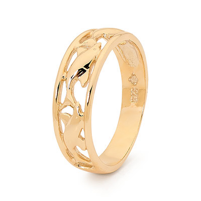 Gold Ring - Dolphins at Play