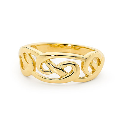 Gold Ring - Celtic Knot