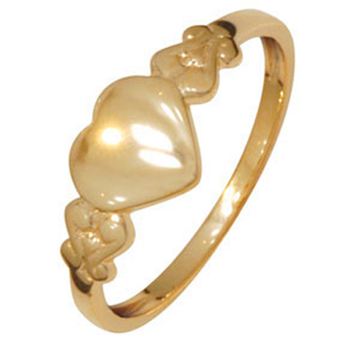 Shiny Child's Heart Signet Ring