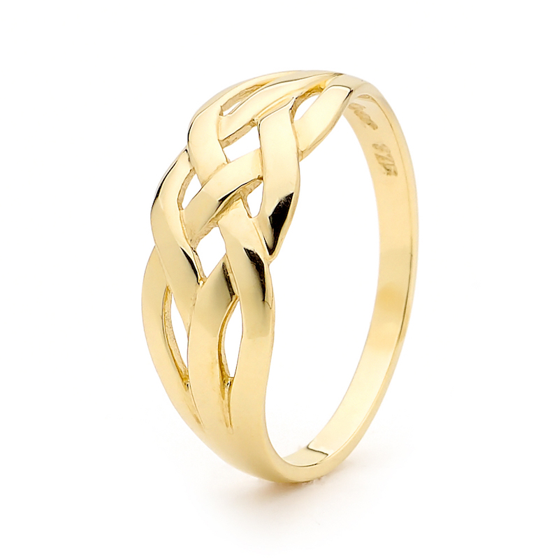 Four Strand Gold Plait Ring