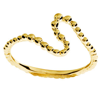 Gold Ring with String of Beads