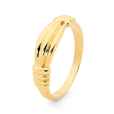 Solid Gold Dress Ring