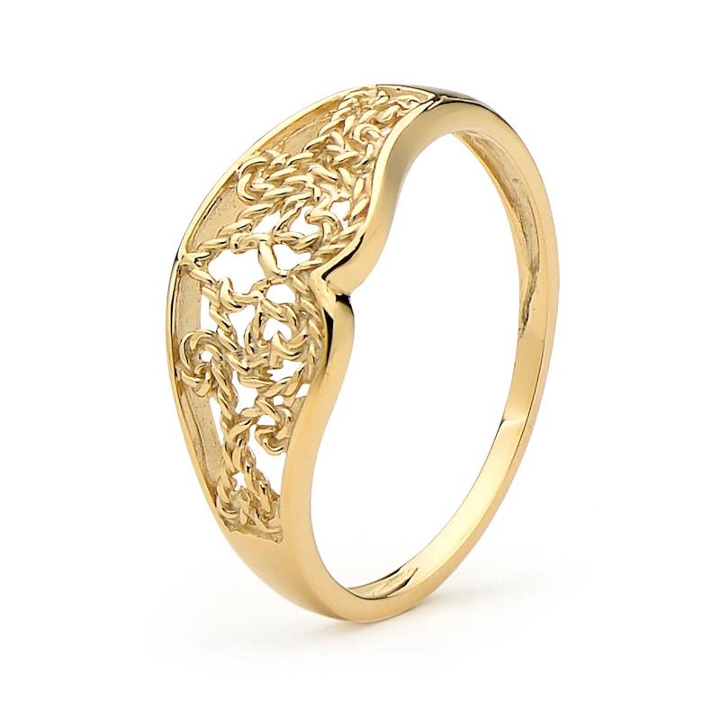 45387 gold ring filigree
