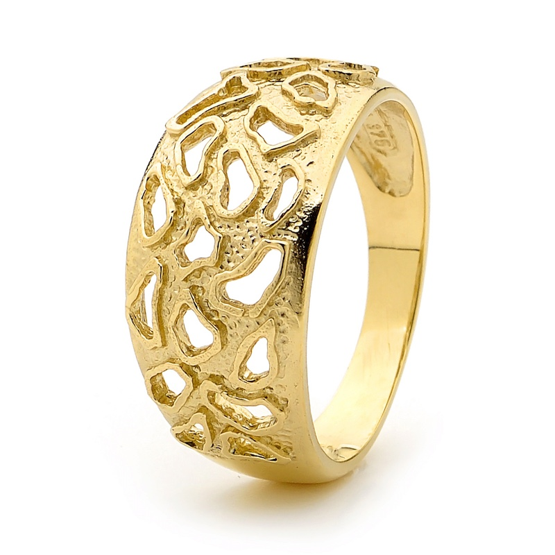 African Safari Gold Ring