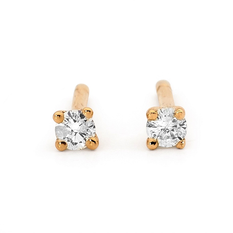 Diamond Solitaire Stud Earrings - 0.30 Carat (TDW)