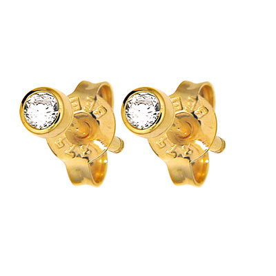 Diamond Solitaire Stud Earrings - 0.10 Carat (TDW)