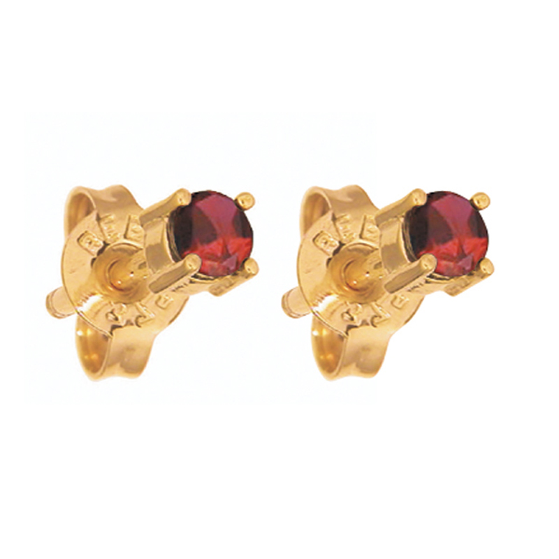 Ruby Stud Earrings - 4 mm