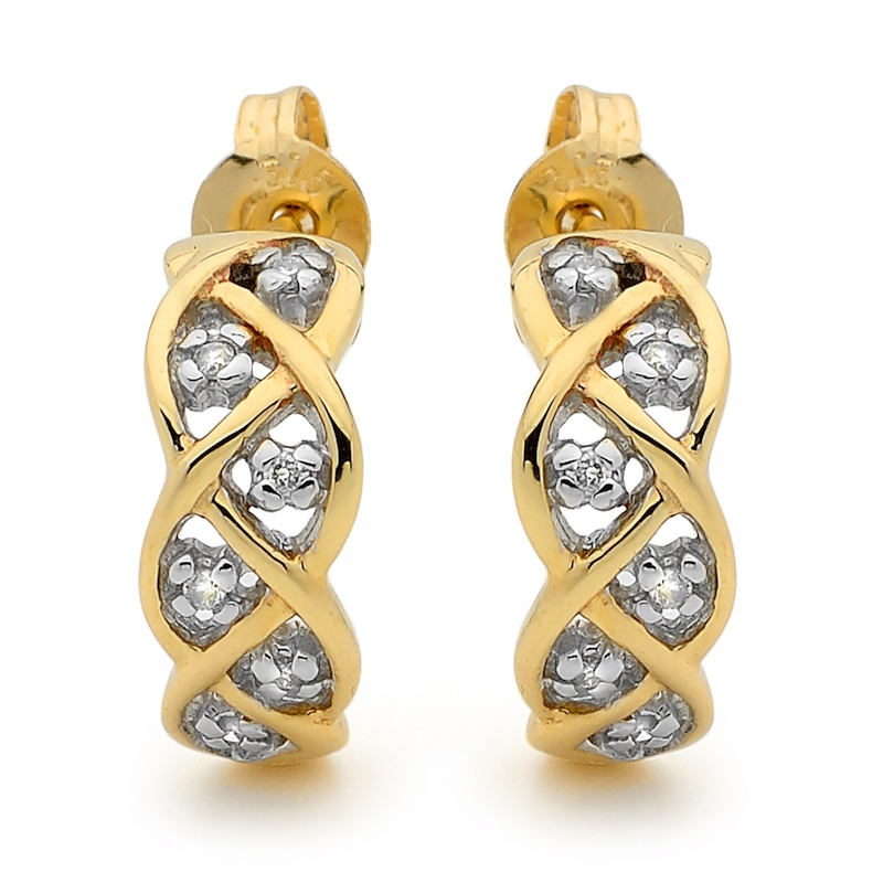 "Gold and Diamond  Earring ""Dream Weaver"""