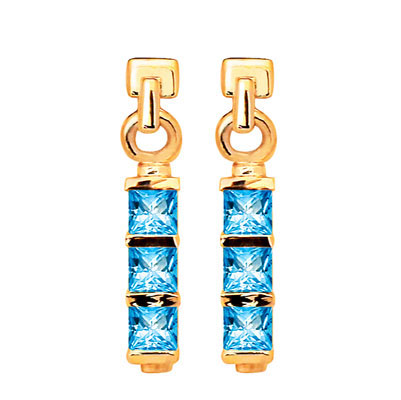 Cool Blue Topaz Earrings