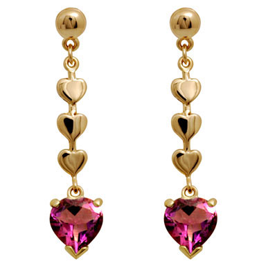 Pink Cubic Zirconia Drop Earrings