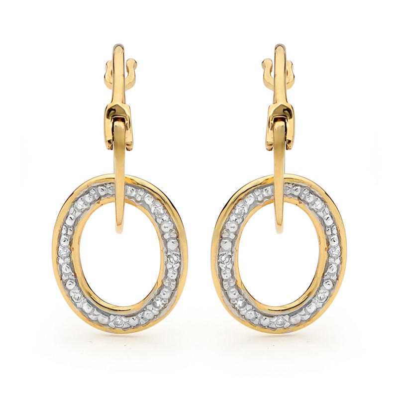 Comfort Yellow Gold Circle Earrings with Clip Hook