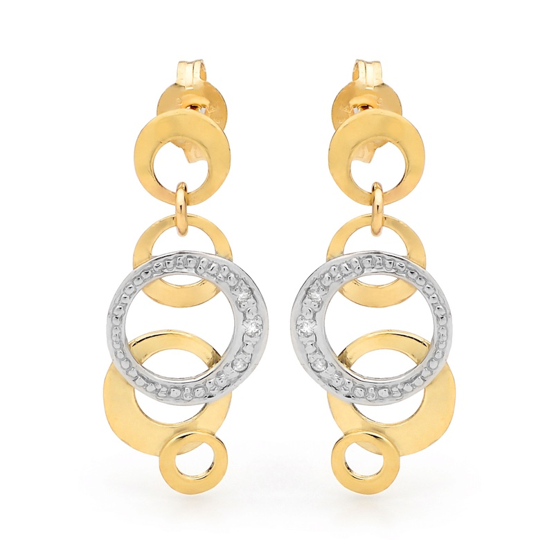 Diamond Earrings with Circles