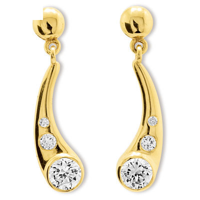 Zirconia Drop Earrings