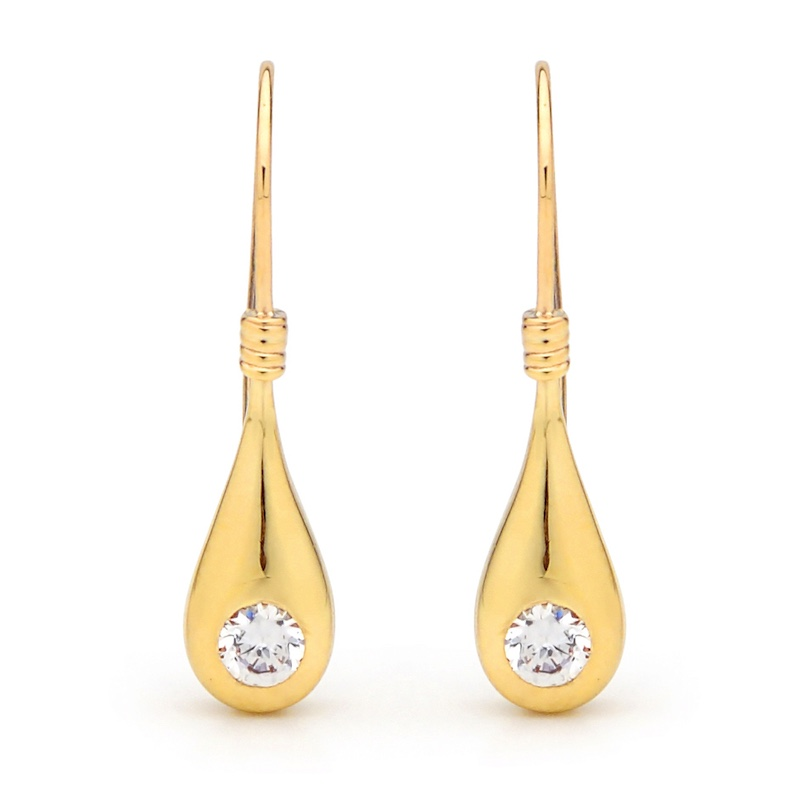 Cubic Zirconia Teardrop Earrings