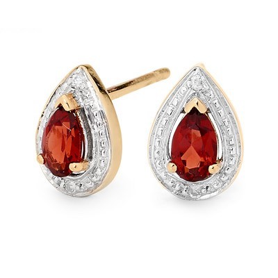 Teardrop Ruby and Diamond Earrings