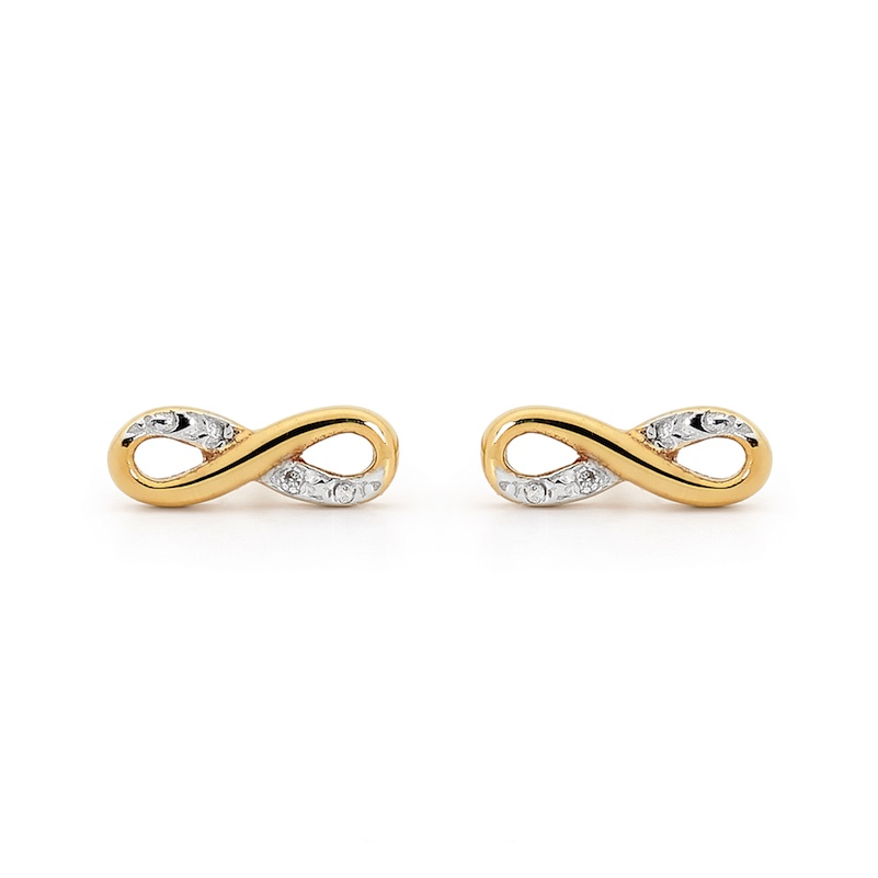 Infinity Studs with Pave DIA Setting