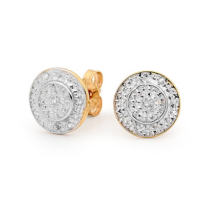 Diamond Encrusted Halo Earrings
