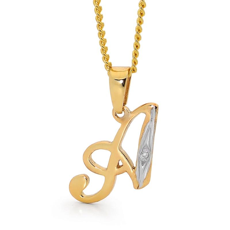Zodiac pendants and initial pendants bee jewellery diamond initial pendant a audiocablefo