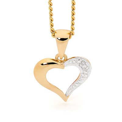 Classic diamond set heart pendant