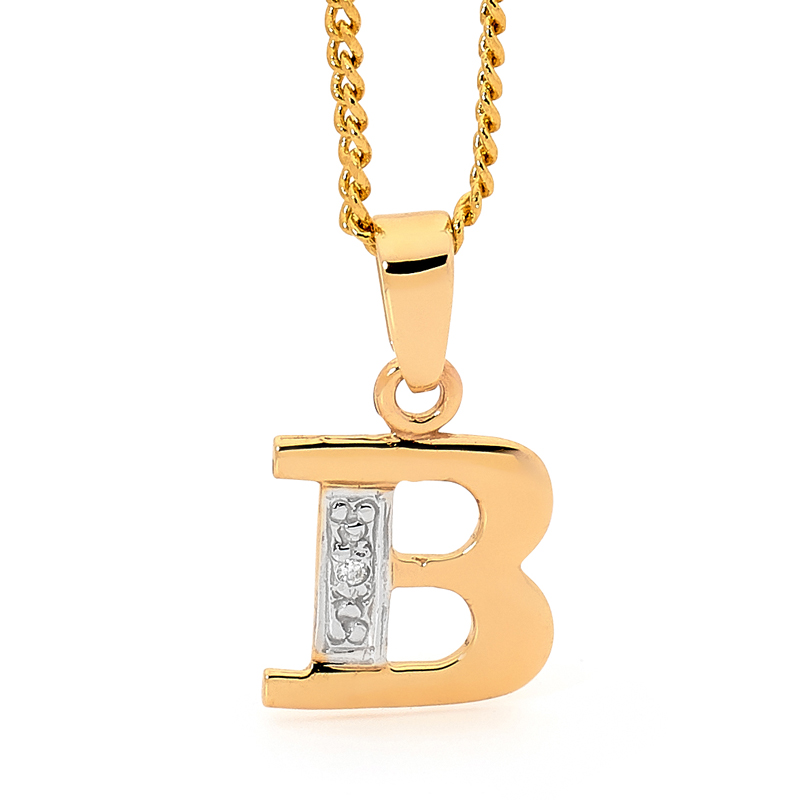 Diamond Set Block Initial B