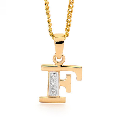 Diamond Set Block Initial F