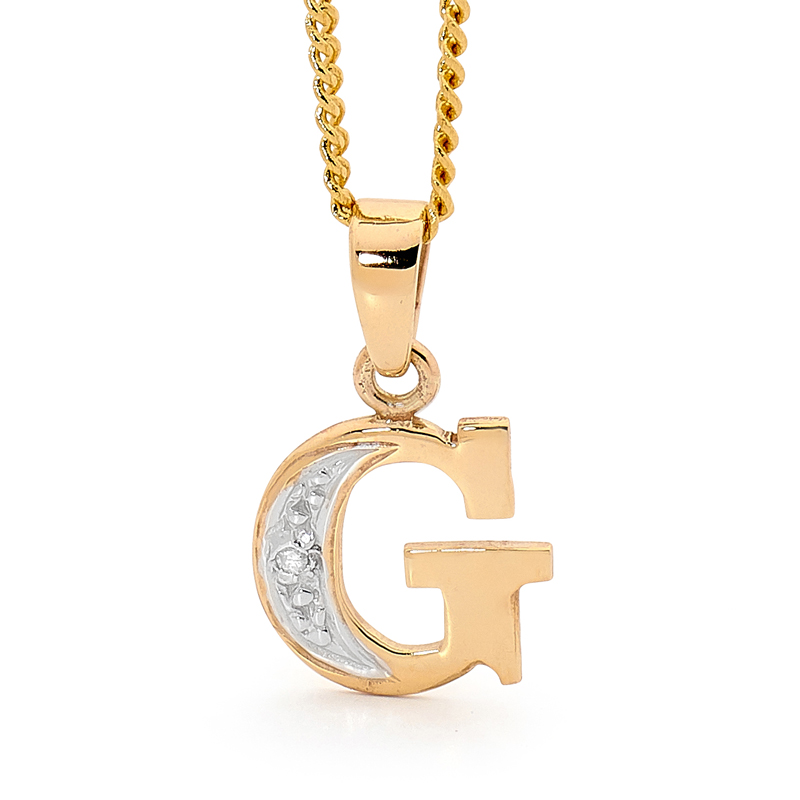 Diamond Set Block Initial G