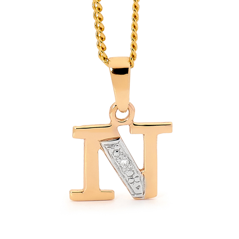 Diamond Set Block Initial N