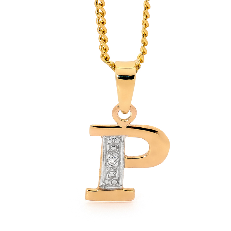 Diamond Set Block Initial P
