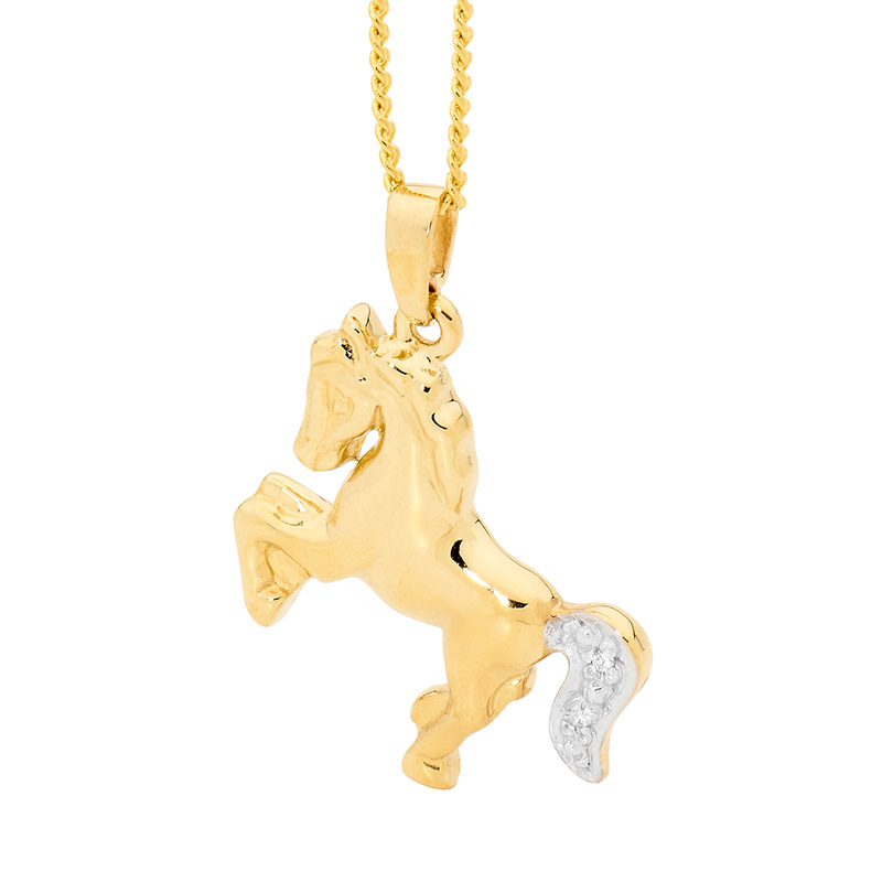 Golden pony with Diamond Set Tail