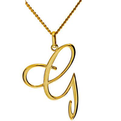 Gold Initial Pendant G