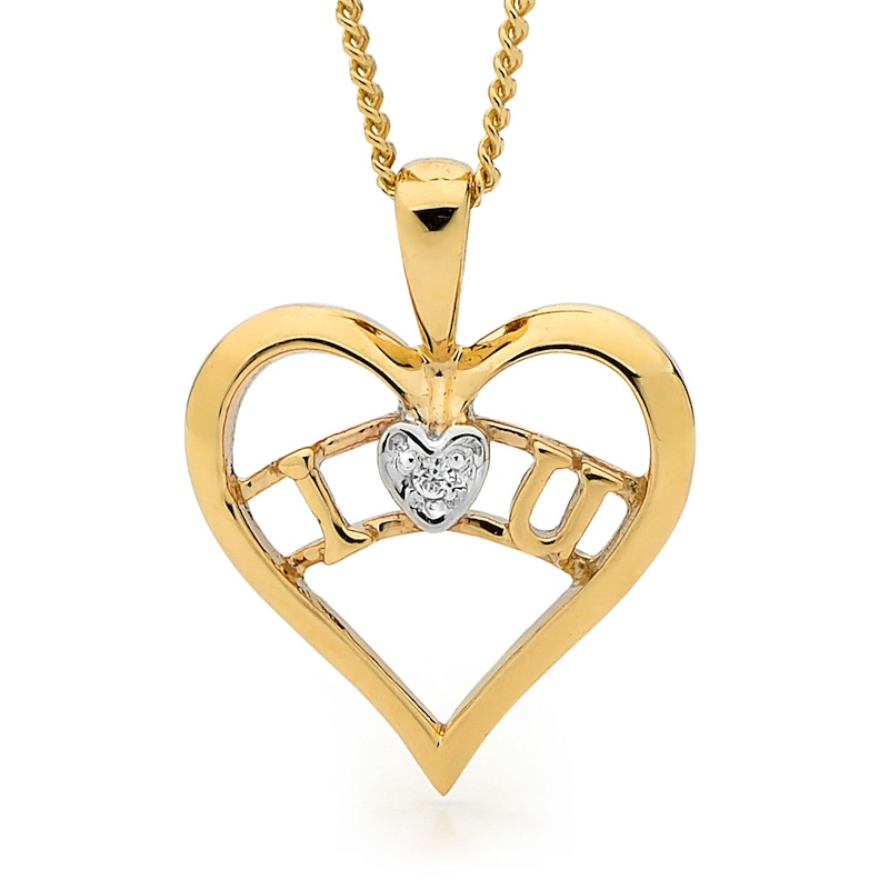 I Love You - Heart Pendant