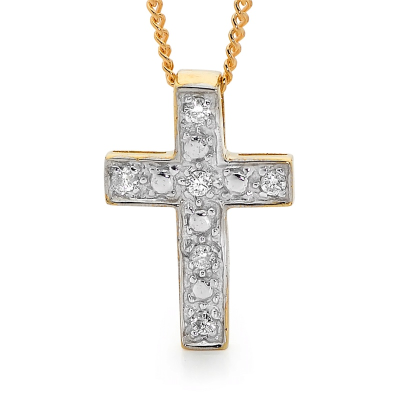 Diamond Set Cross Pendant - TDW 0.06 Carat