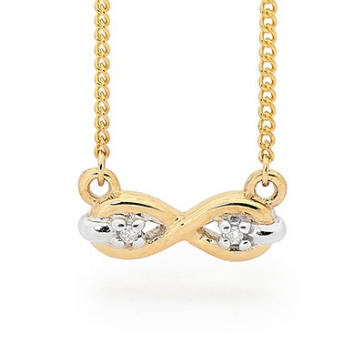 Little Infinity Necklace with Diamonds
