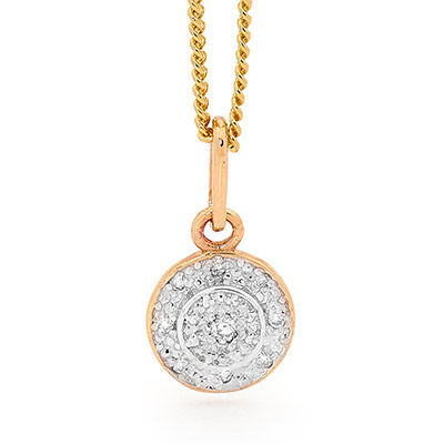 Diamond Encrusted Halo Pendant