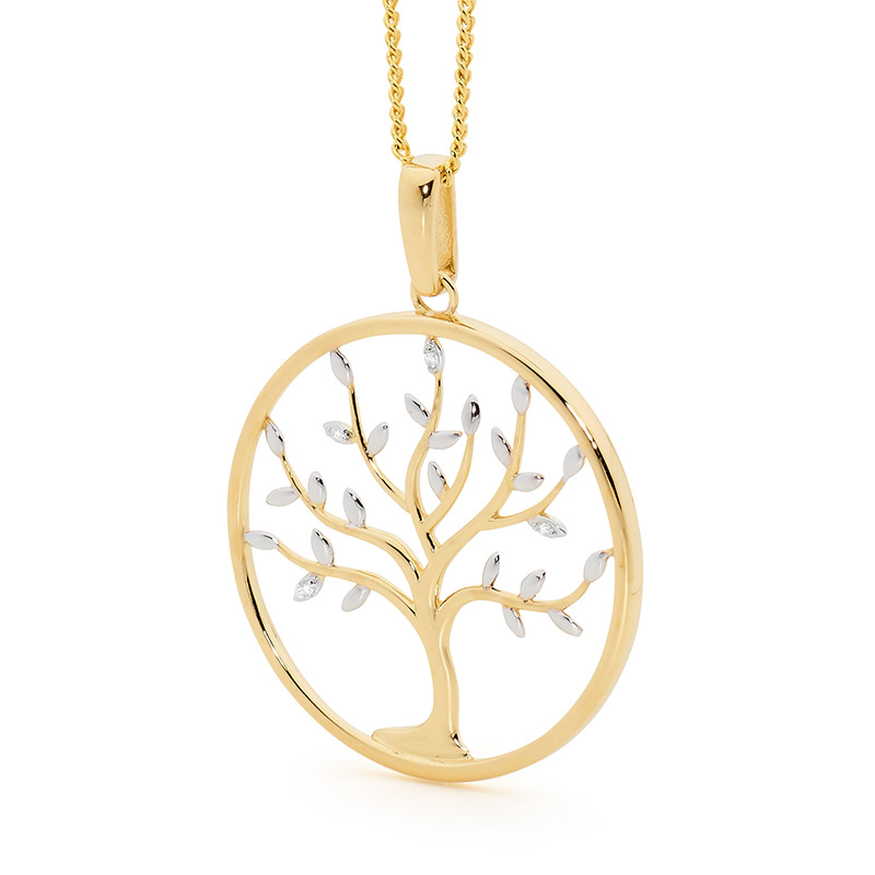 Tree of Life Pendant with Diamonds
