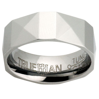 Mens Tungsten Ring - US Size 8.5