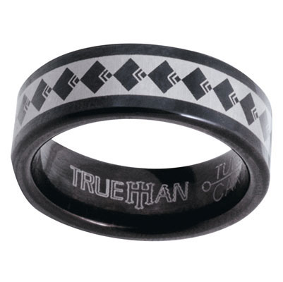 Black Tungsten Ring US Size 12.5